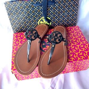 Tory Burch mini Miller veg leather sandals 6.5